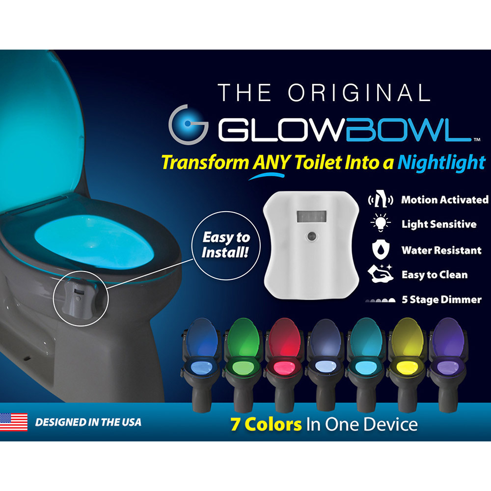 2-PACK GLOWBOWL - MOTION ACTIVATED TOILET NIGHTLIGHT Header Image
